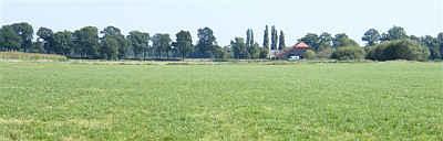 Opgekochte boerderij t.b.v. de Ecologische Hoofd Structuur in de Peel.